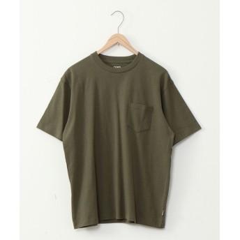 コーエン USAコットンヘビーウェイトクルーネックポケットTシャツ# メンズ OLIVE MEDIUM 【coen】