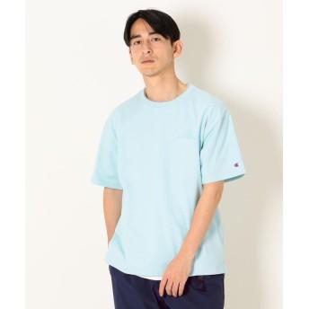 シップス SHIPS any×Champion: フェイクレイヤー ポケット Tシャツ メンズ ライトブルー SMALL 【SHIPS】