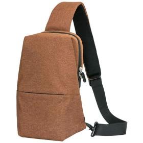 ボディバッグ 斜めがけバッグ メンズテラパターンレザーショルダーバッグトラベルスポーツツーサイドビジネスブリーフケースハンドバッグ 登山 散歩 通勤 通学 (Color : Brown)