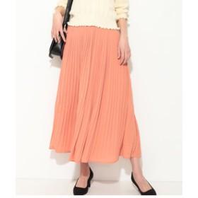 【ViS:スカート】ジョーゼットプリーツロングスカート