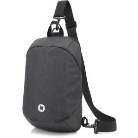 メンズチェストバッグオックスフォード布バックパックカジュアルメンズ斜めの盗難防止バッグ屋外の乗馬バッグ ビジネスバッグ (色 : Black, サイズ : M)
