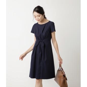 NEWYORKER 【ウォッシャブル】Summer Time Dress/フロントリボン サマータイムドレス スーツ・セットアップ/ワンピース,ネイビー(75)
