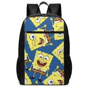 Qrwlkj スポンジボブ Spongebob SPONGE BOB リュック バックパック リュックサック ビジネスバッグ 大容量 多機能 人気 メンズ レディース 大学生 低学年 高学年 仕事 通学 ランキング