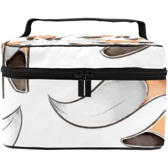 化粧ポーチ 狐狸 遊び きれい 機能性 大きめ レディース コスメポーチ 便利 大容量 収納 旅行 収納 メイク道具 雑貨 小物入れ 使いやすい 化粧品 収納ケース 防水 携帯便利