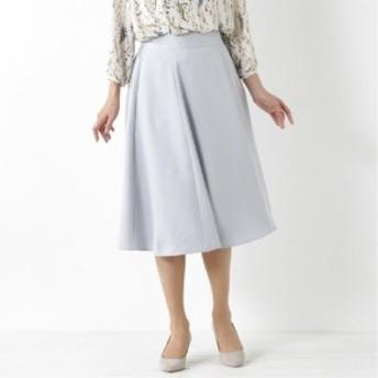 キレイなハリ感◎ロングフレアスカート
