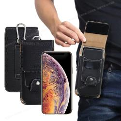 City Boss for 三星 Samsung Galaxy A51/A71 潮流紳士插卡腰掛皮套-附掛勾