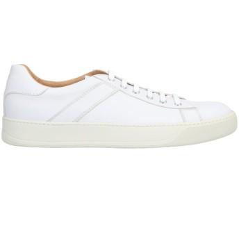《セール開催中》SANTONI メンズ スニーカー&テニスシューズ(ローカット) ホワイト 10 革