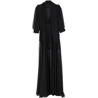 《セール開催中》LES BOURDELLES DES GARONS レディース ロングワンピース&ドレス ブラック 42 ポリエステル 100%