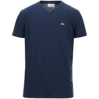 《セール開催中》LACOSTE メンズ T シャツ ダークブルー 9 コットン 100%