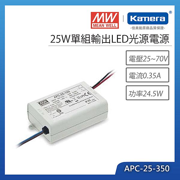明緯 25W單組輸出LED光源電源(APC-25-350)
