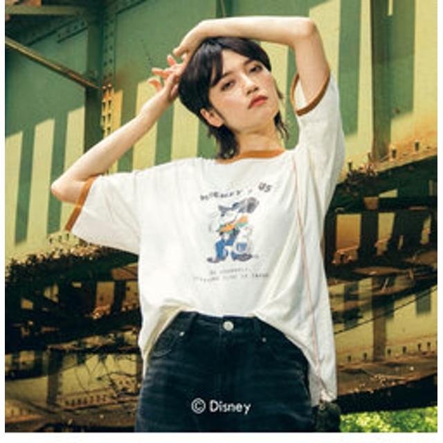 【J Lounge:トップス】DISNEY-COLLECTION-MICKEY-Tシャツ