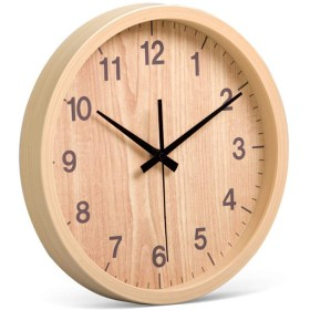 掛け時計 ホームオフィス学校に適したリビングルームサイレントヴィンテージウォールクロックとローマ数字ハンズ クォーツ電池タイプ (色 : Asaki, Size : 35.7x35.7x4.5cm)