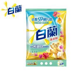 白蘭 含熊寶貝馨香精華洗衣粉4.25kg/袋-花漾清新