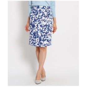 【洗える】花柄タイトスカート