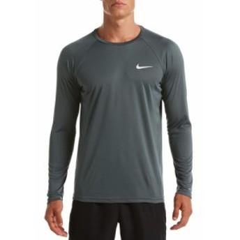 ナイキ Nike メンズ ラッシュガード 水着・ビーチウェア Essential Long Sleeve Hydro Rash Guard Iron Grey