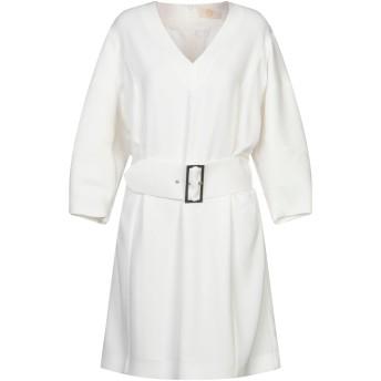 《セール開催中》SARA BATTAGLIA レディース ミニワンピース&ドレス ホワイト 42 ポリエステル 95% / ポリウレタン 5%