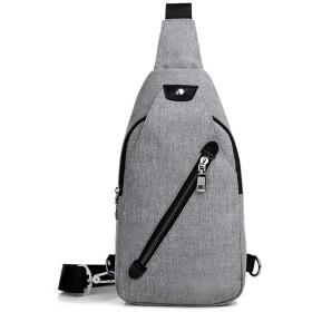 メンズチェストバッグ メンズキャンバスチェストバッグ盗難防止スモールバックパックワンショルダービジネスレジャー旅行 通学 通勤 旅行