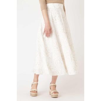 JILLSTUART ミシェル刺繍ロングスカート ホワイト 4