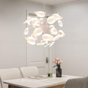 シャンデリア - ベッドルーム、リビングルームの廊下の研究などのためのクリエイティブの鉄のシャンデリア北欧の雰囲気、50センチメートル 45センチメートル、 26(3つの光色の変化)LED光源 カラフルなライト