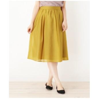 【大きいサイズあり・13号・15号】ライトスパンボイルスカート