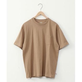コーエン USAコットンヘビーウェイトクルーネックポケットTシャツ# メンズ BEIGE SMALL 【coen】