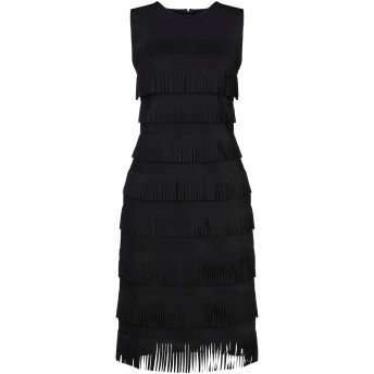 《セール開催中》GIORGIO ARMANI レディース ミニワンピース&ドレス ブラック 40 ナイロン 75% / ポリウレタン 25%