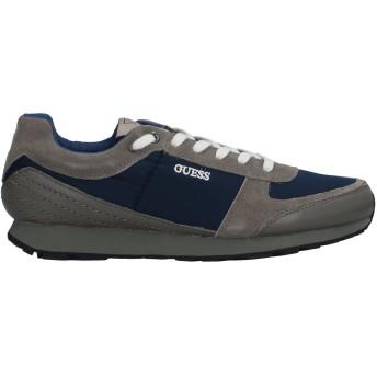 《セール開催中》GUESS メンズ スニーカー&テニスシューズ(ローカット) 鉛色 44 革 / 紡績繊維