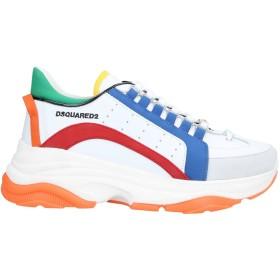 《セール開催中》DSQUARED2 メンズ スニーカー&テニスシューズ(ローカット) ホワイト 41 牛革(カーフ) / 紡績繊維