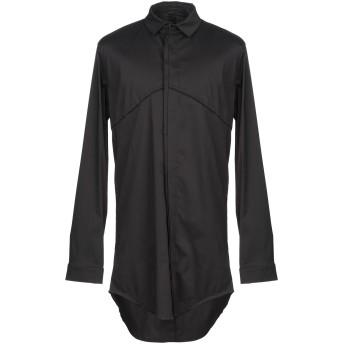 《セール開催中》MAVRANYMA メンズ シャツ ブラック 48 コットン 76% / ナイロン 20% / ポリウレタン 4%