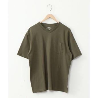 コーエン USAコットンヘビーウェイトVネックポケットTシャツ# メンズ OLIVE X-LARGE 【coen】
