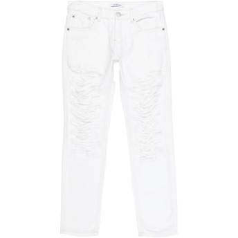 《セール開催中》GLAMOROUS レディース ジーンズ ホワイト XS コットン 100%