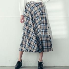 socolla(ソコラ)/【socolla】マドラスチェック巻き風スカート