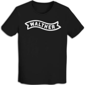 キス バンド ロック Tシャツ メンズ Walther-Logo メタル 春秋,おおきいサイズ アルバム パンクおもしろ ビンテージ レトロ Rock Tee Shirt, Black, S