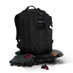 bagrun 都會玩家軍事風格後背包-L 都會極黑
