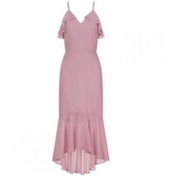 チチ Chi Chi レディース パーティードレス ミドル丈 ワンピース・ドレス Peplum Midi Dress Mink