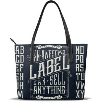 トートバッグ レディース リクルートバッグ ハンドバッグ ラベルデザインを作るための飾り枠とレトロなフォントセット A4 軽量 仕事 就活 高級 人気 通勤バッグ 軽い 手提げ 肩掛け かばん 大人
