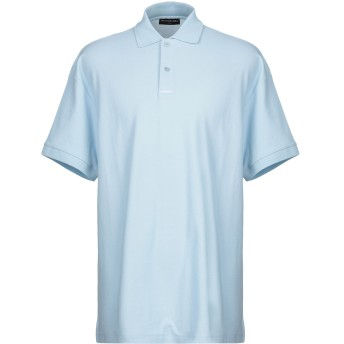 《セール開催中》BALENCIAGA メンズ ポロシャツ スカイブルー M コットン 100%