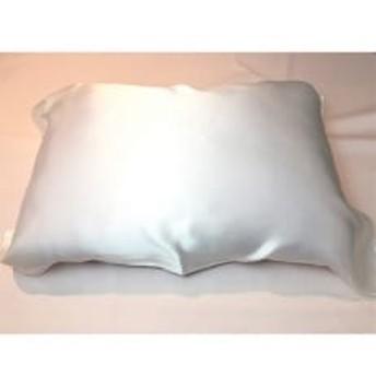 シルクの枕カバー(ひもで結ぶタイプ)