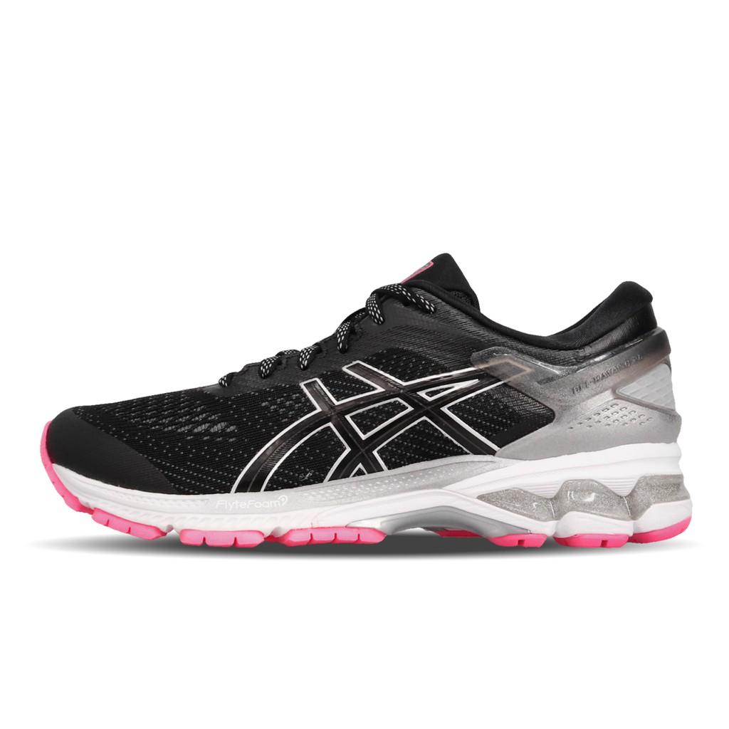 Asics 慢跑鞋 Gel-Kayano 26 黑 灰 女鞋 運動鞋 反光 1012A589-001 亞瑟士 【ACS】