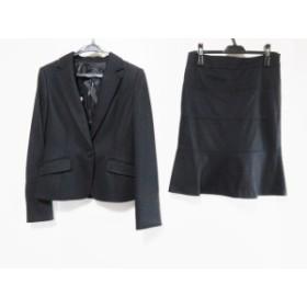 アンタイトル UNTITLED スカートスーツ サイズ2 M レディース 黒 厚手【中古】20200115