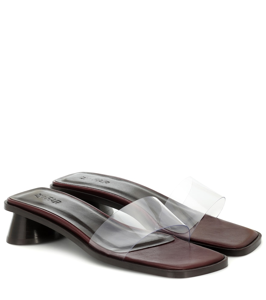 Sonia PVC and leather sandals