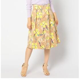 【NOLLEY'S:スカート】グログランフラワープリントスカート