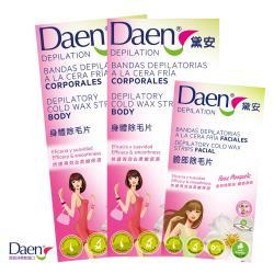 Daen黛安 玫瑰果油身體除毛片16片*2盒+臉部及敏感部位除毛片16片*1盒-麝香香味