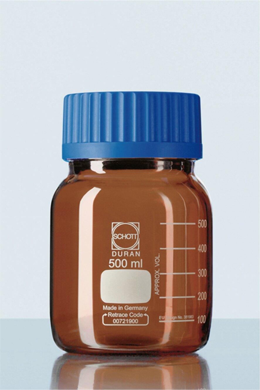 《實驗室耗材專賣》DURAN SCHOTT 德製 GLS80 寬口茶色玻璃血清瓶 1000ML【1支】 耐熱玻璃瓶 試藥瓶 收納瓶 儲存瓶 樣品瓶