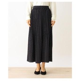 HusHusH(Ladies)(ハッシュアッシュ(レディース))【手洗いOK】ビンテージサテンプリーツスカート