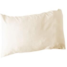 枕カバー(綿100%シワになりにくい加工) - セシール ■カラー:アイボリホワイト ミストブルー ■サイズ:L(85×45cm)