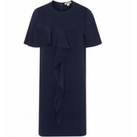 ホイッスルズ Whistles レディース ワンピース ワンピース・ドレス Cora Crepe Frill Dress Navy