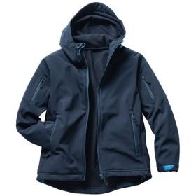 【メンズ】 はっ水・ストレッチ・3レイヤー素材ジャケット - セシール ■カラー:ネイビー ■サイズ:M,L,LL,3L,5L