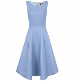 チチ Chi Chi レディース ワンピース ミドル丈 ワンピース・ドレス Panelled Midi Dress Blue