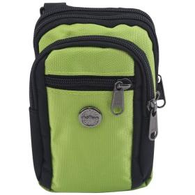 LoveAloeユニセックス多目的クロスボディバッグ多機能小ポケットシングルショルダーバッグ、緑